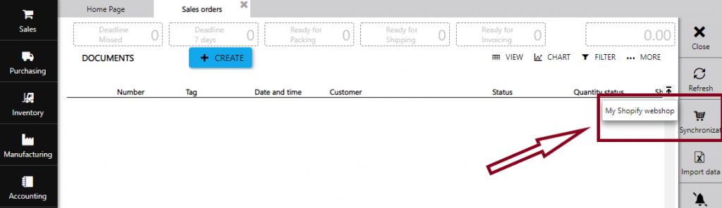 sync sales orders