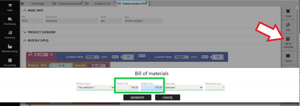 blockly bill of materials