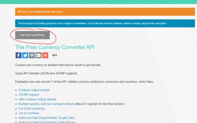Currency Converter API & ERPAG integration