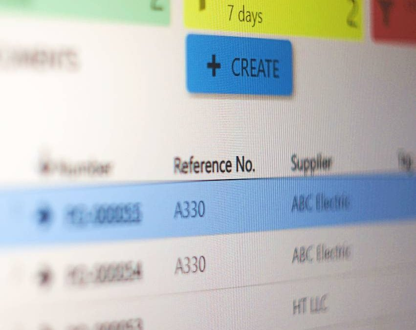 Purchase order - Same reference number