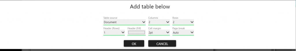 Repot designer :row
