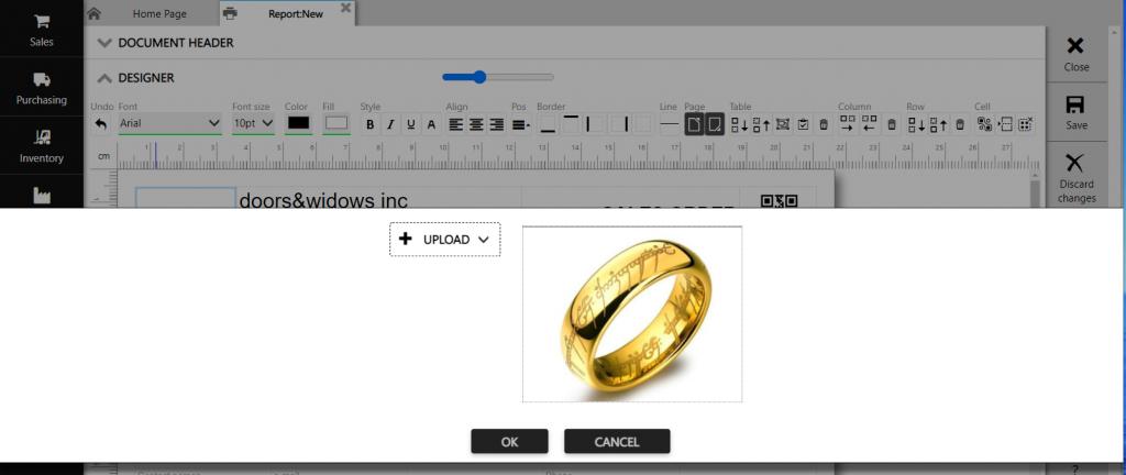 Repot designer :url insert