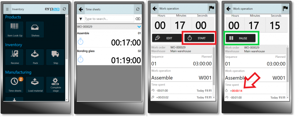 mobile app time tracking